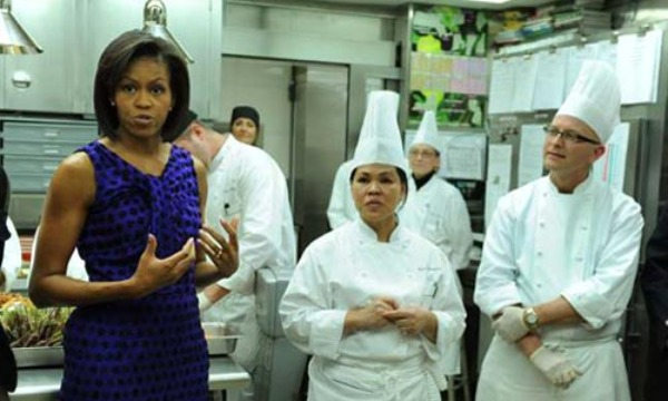 Michelle Obama, Champion of Nutrition and Eater of Burgers